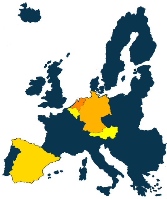 Crowdinvesting in Immobilien - Karte Europa